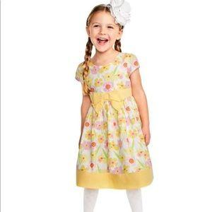 NEW Gymboree Girls Yellow Floral Dress